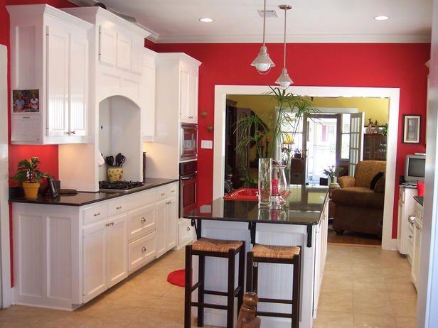 کاربرد دیوار رنگی برای دیزاین آشپزخانه